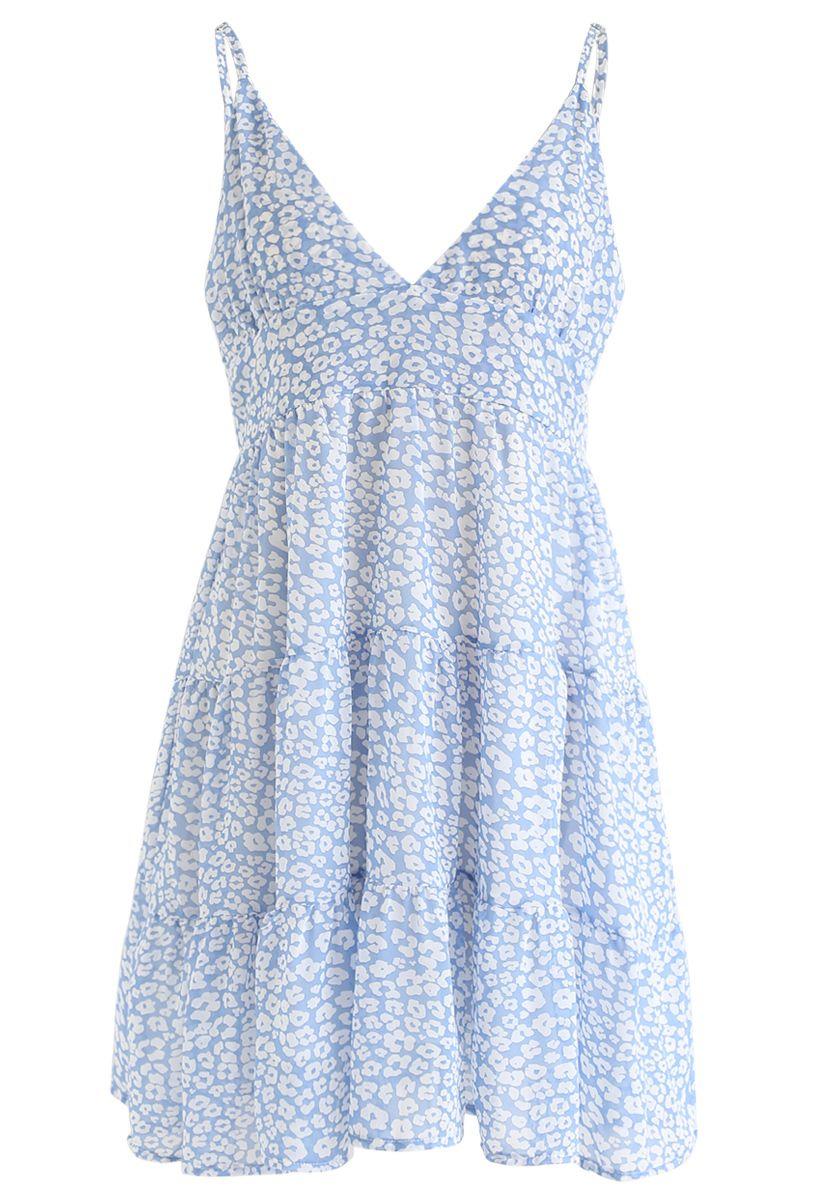 Verzaubertes Floret Chiffon Mini Cami Kleid