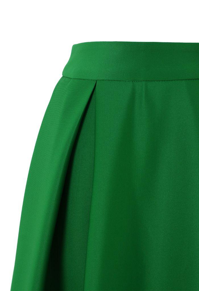Midirock einer kompletten Linie in Grün