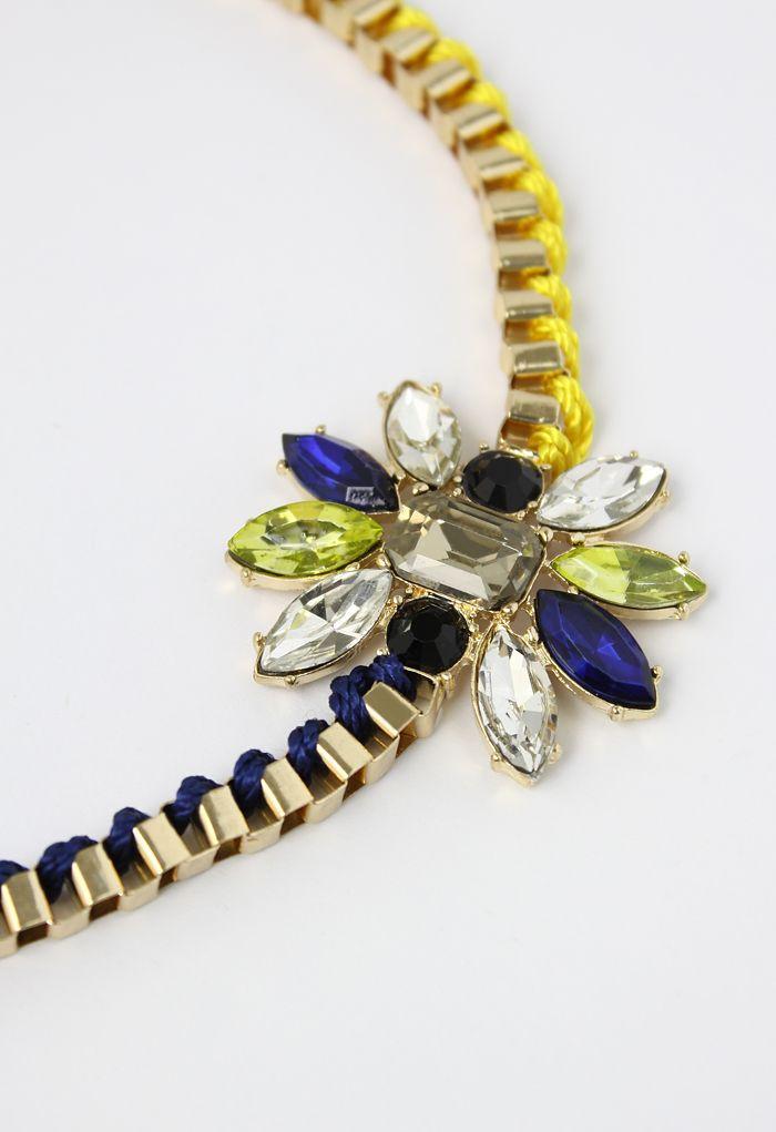 Cadena del collar joya mezcla de punto
