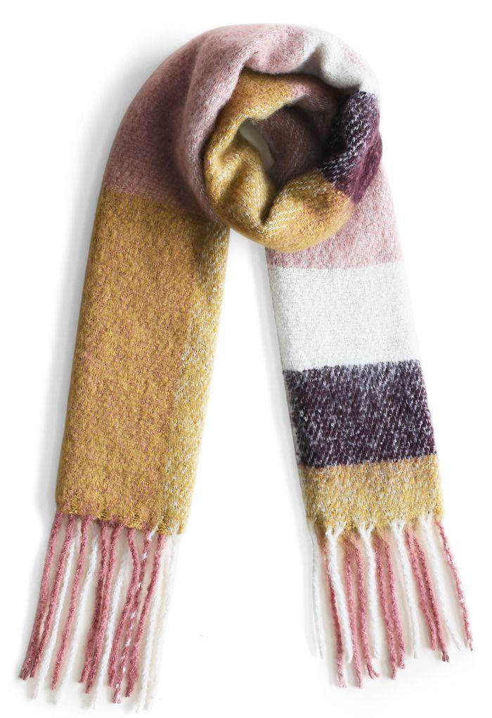 Bloque suave - bufanda con flecos