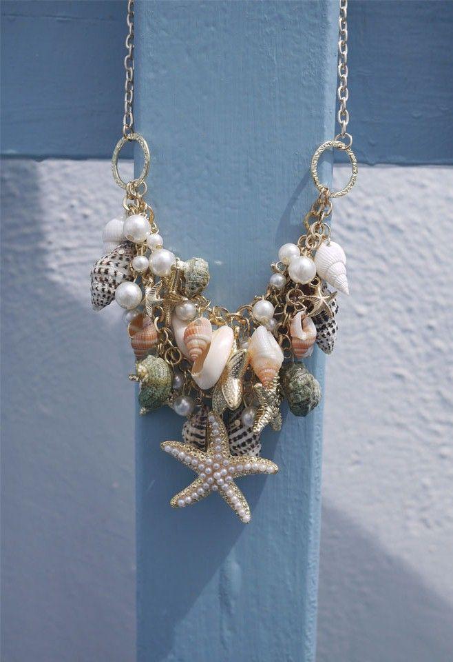 Collar de perlas de las estrellas de mar Shell