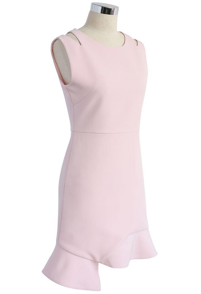 Der Inbegriff der Anmut - Ärmelloses Kleid in Pink