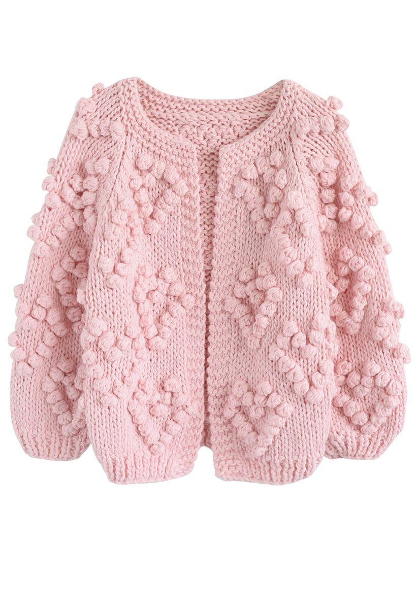 Knit Your Love - Strickjacke en rosa