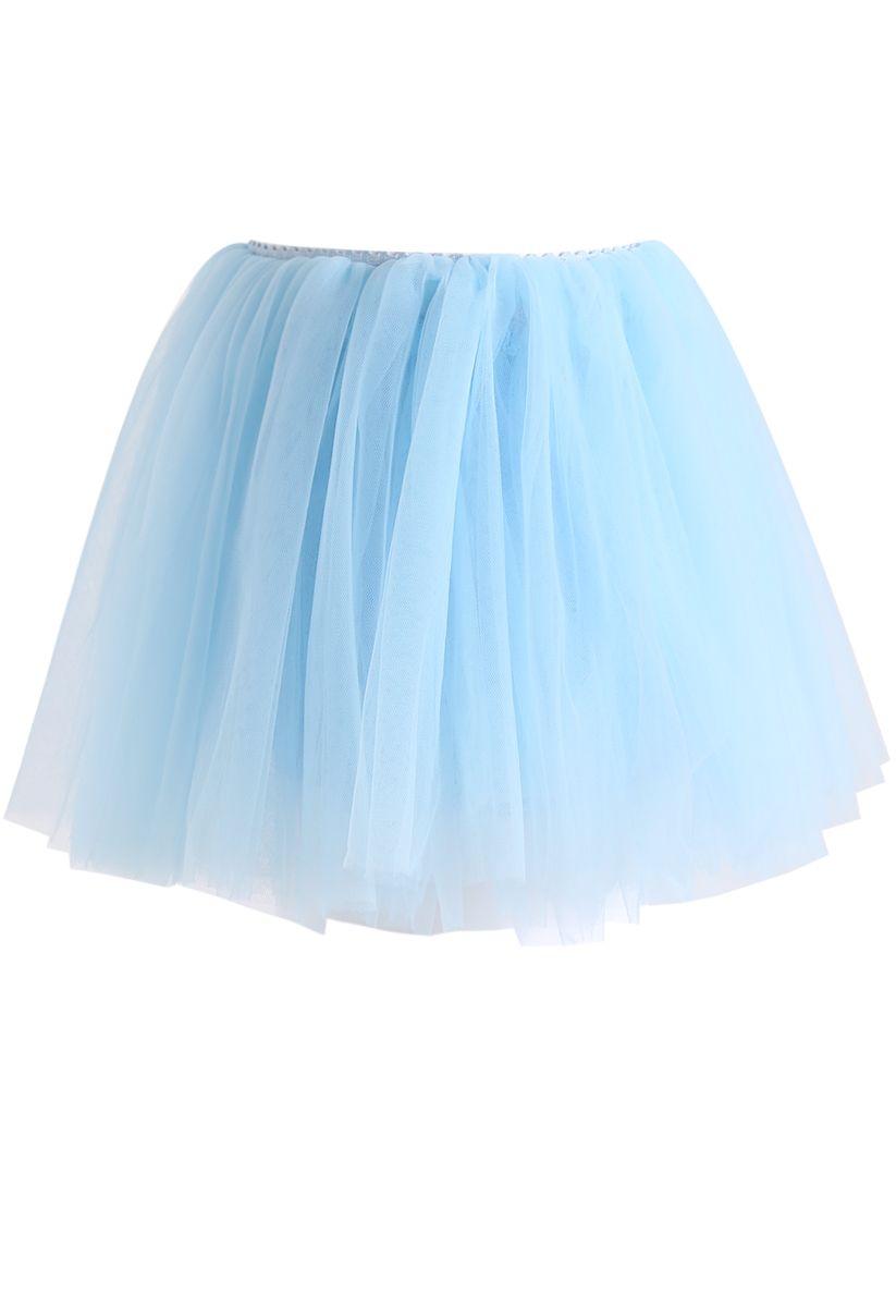 Amore Mesh Tüllrock in Babyblau für Kinder