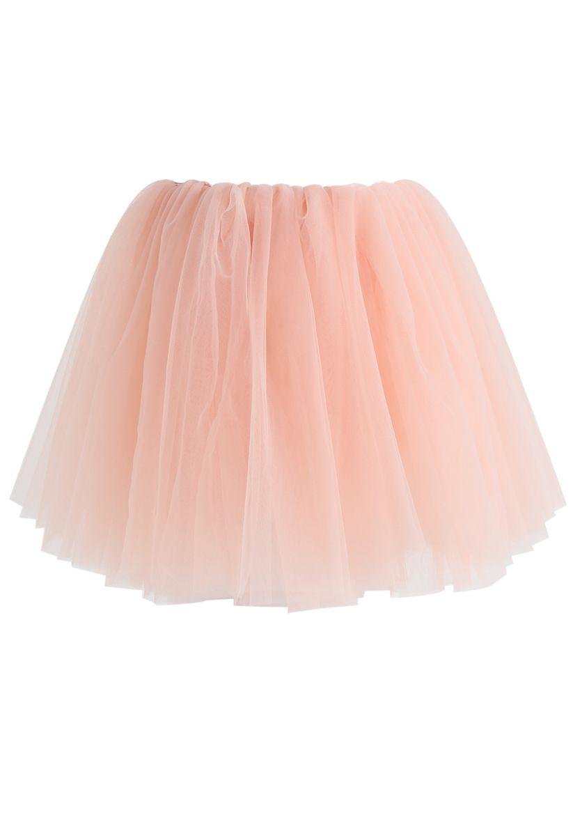Amore Mesh Tüllrock in Pink für Kinder