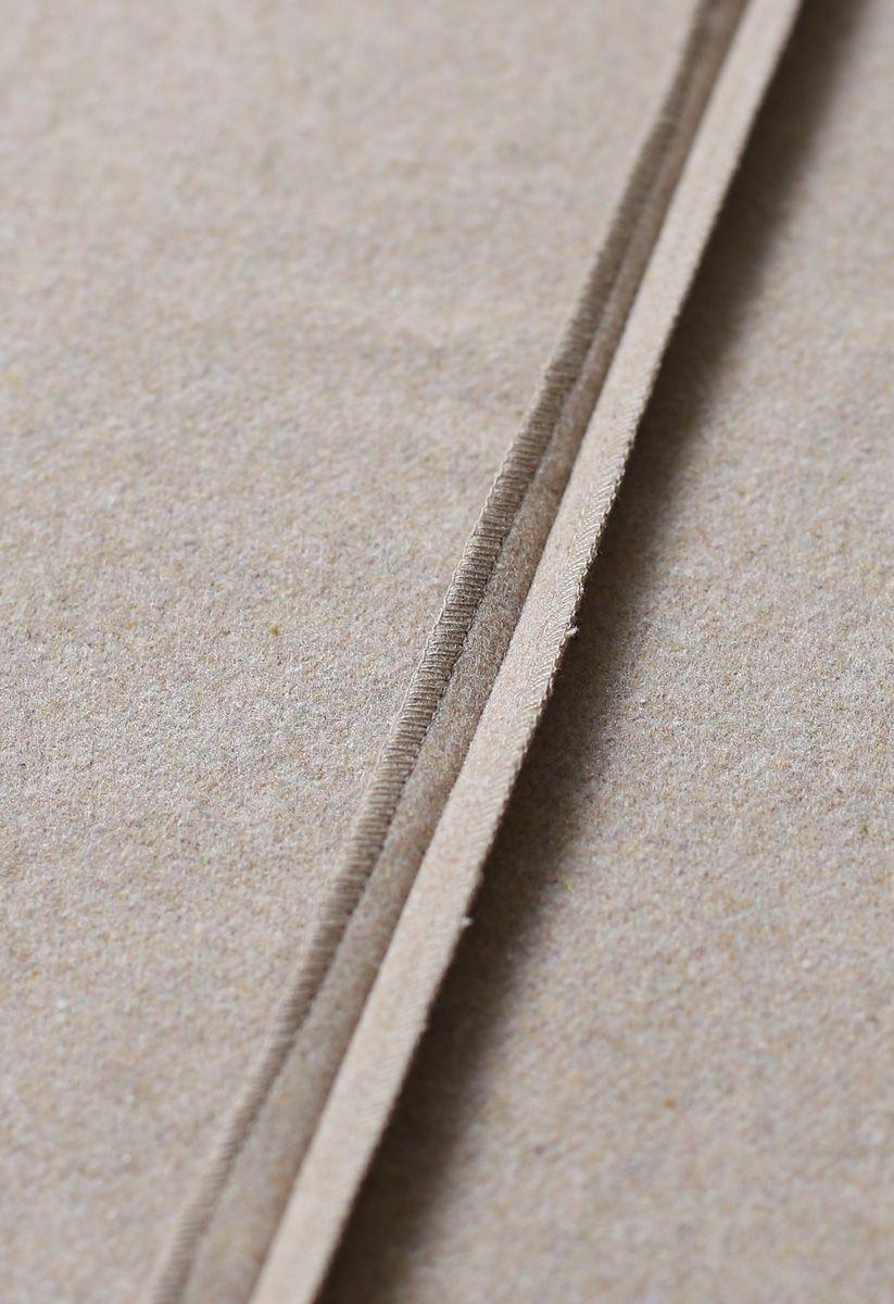 Selbsttrocknender Sandwollmantel mit offener Vorderseite