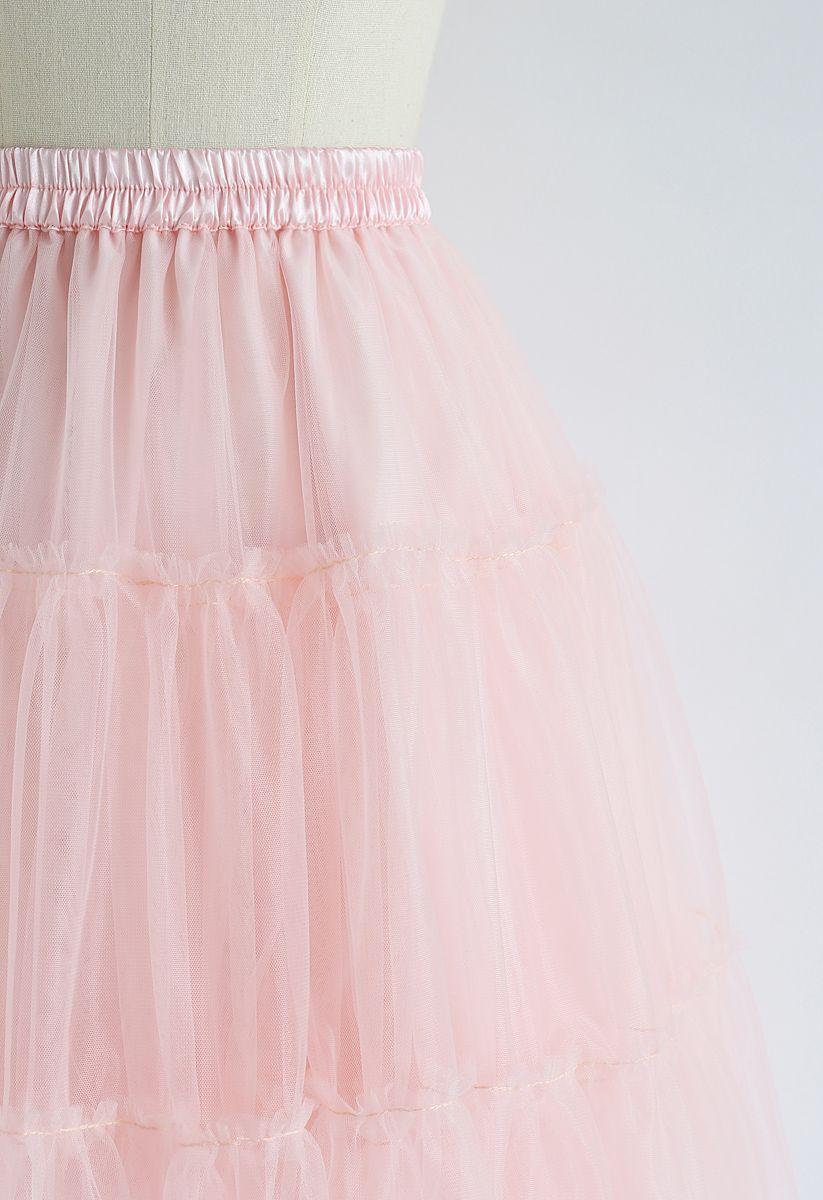 Amore Klappe mit Tüll in pink