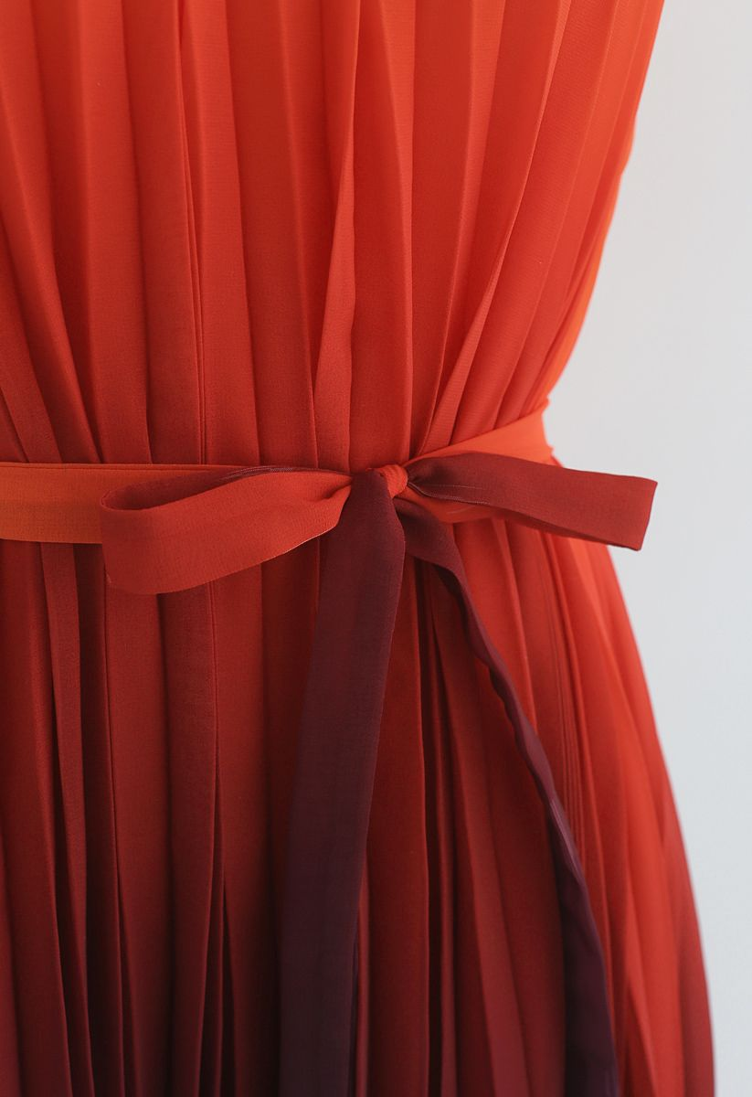 Glanz der Abenddämmerung - Rising maxi vestido plisado