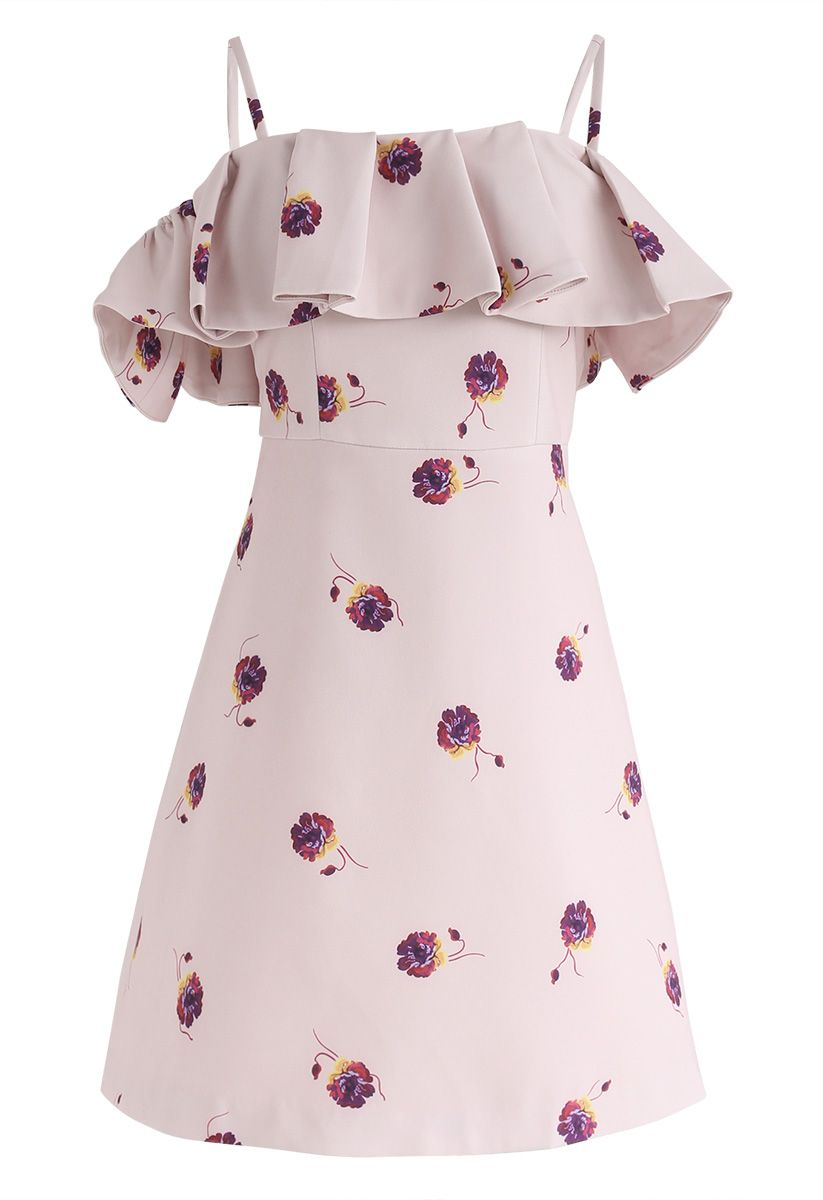 Beauty Remains - Kleid mit Blumendruck und kalter Schulter