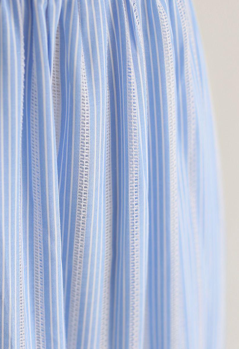 Sommerliches Sense Blue Stripe Cami Kleid