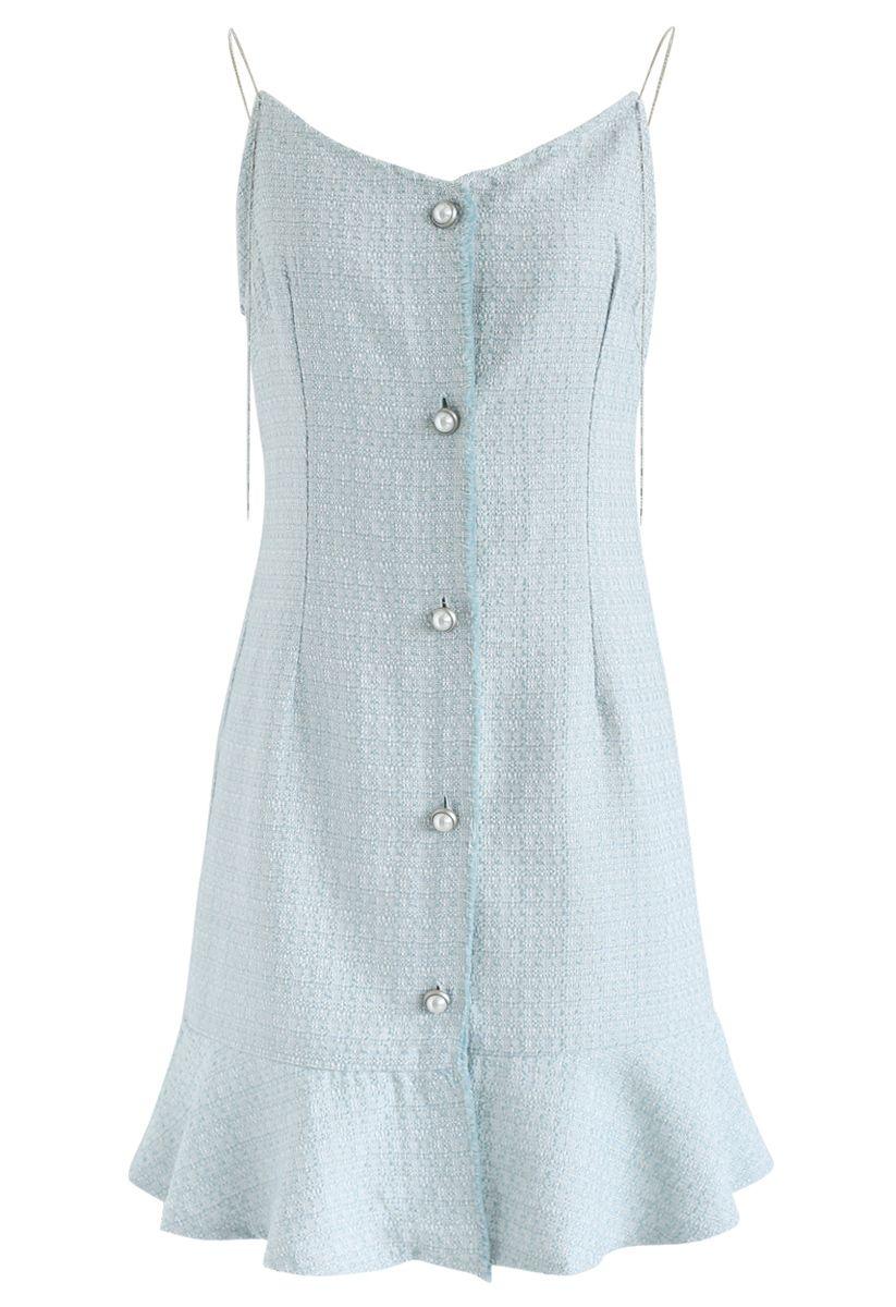Es wird Tweed Cami Kleid in blau sein