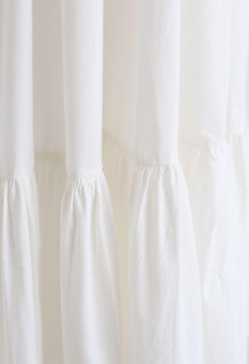 Joyful Aspects - Rückenfreies Midikleid in Weiß