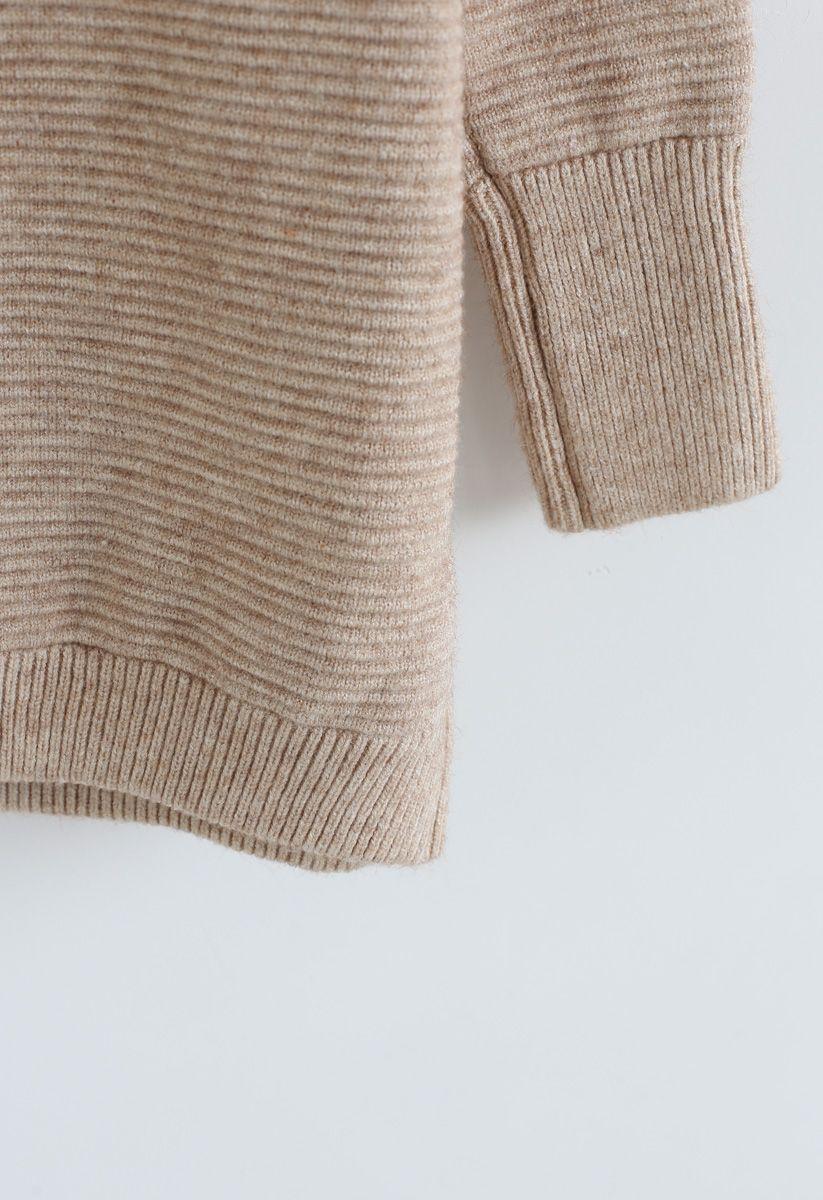 Kuscheliger Rollkragenpullover aus Leinen