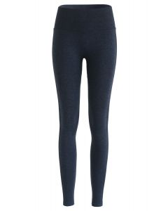 Butt Lift Hochhaus-Yoga-Leggings in Navy