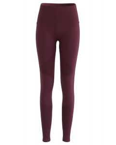 Hochhaus Fitness Yoga Leggings in Burgund