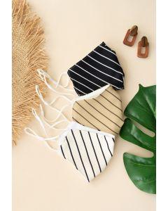 3 Packs Contrast Stripe Face Coverings