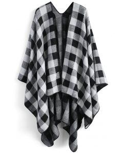 Classic black check - manto de lana