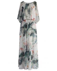 Gemalt im eleganten Aquarell - langen Kleid