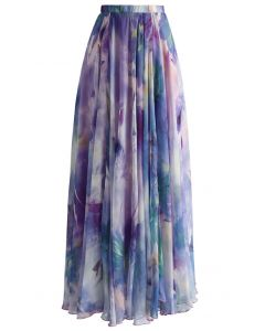 Tanzen-Aquarelle - lila langer mit Blumenrock