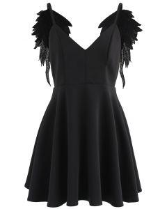 Angel Wings - Smokinghemd in Schwarz