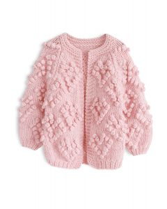 Knit Your Love - Strickjacke für Kinder in Pink