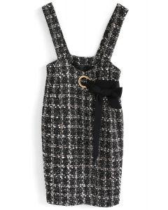 Modern Selection - Schwarzes Tweed-Schürzen-Kleid