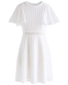 Crochet Me Grace - weißes Minikleid