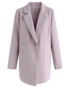Acércate a ti mismo Blazer de rayas de primera línea en rosa
