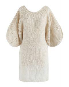 Lo que soñamos: ropa interior mullida tejida a mano con mangas de globo