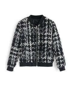 Geeignet für jeden Tag: Jacke mit schwarzer veralteter Textur