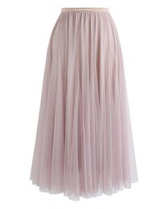 Meine Geheimwaffe: langer rosa Glitzer-Tüllrock