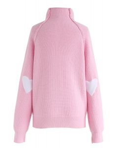 Herz und Seele - Strickpullover in pink