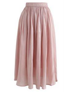 Sleek Beauties Plissee-Midirock in Pink