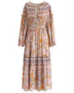 Wunderland Urlaub Floral Maxi-Kleid