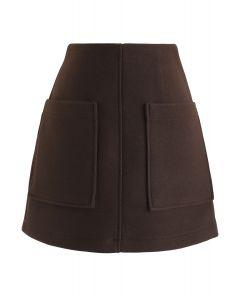 Tasche mit Charme Minirock in Braun