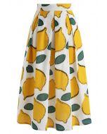 Sommerfrische Limone – A-Linien Midiskirt